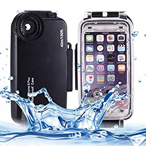 L.L.BEAR For iPhone 6 Plus & 6s Plus 40m Waterproof Diving Housing PC + ABS Protective Case ( Color : Black )