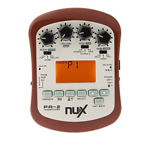 NUX PA-2 Acoustic Guitar Effect Multifunctional Portable Guitar Parts Accessories 18 Types of Preset Two Tuning Modes by NUX
