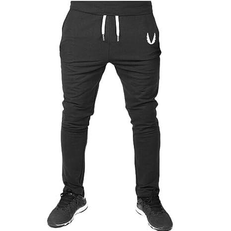 US Mens Sport Pants Long Trousers Tracksuit Fitness Joggers Gym Sweatpants M-2XL