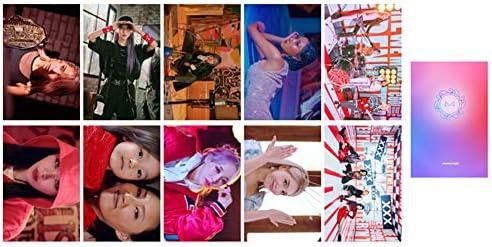 E Zhenzhiao 10 Pcs//Set Kpop Mamamoo 2th Album Realistico in Nero Foto Scheda HD Auto Fatto Lomo Scheda Cartolina Fotografica Migliore Regalo per Ventole