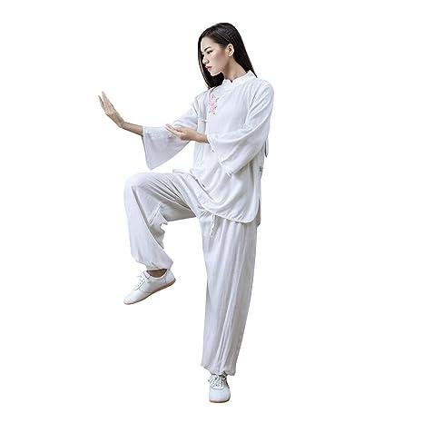JHDUID Tai Chi Uniforme Mujeres Kung Fu Uniforme Algodón ...