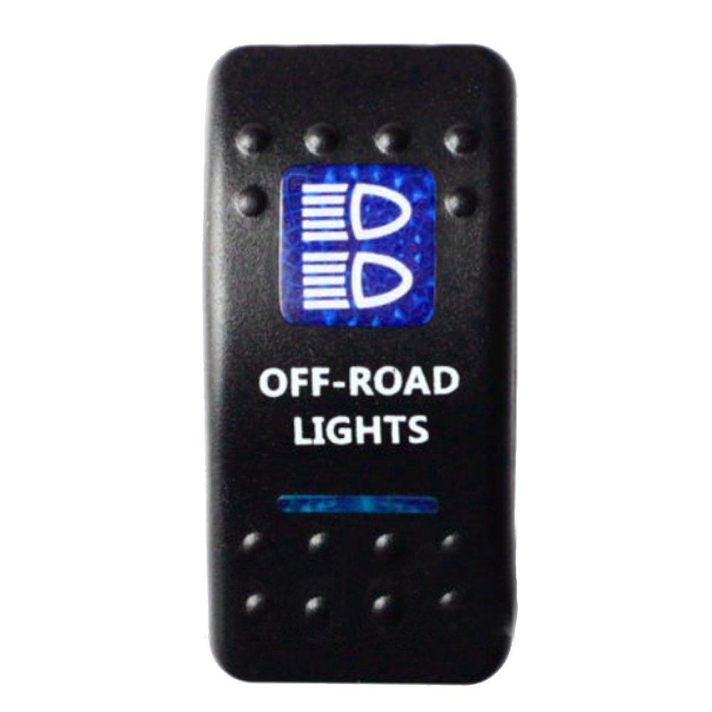 E Support™ 12V Auto KFZ Blau LED Lichtleiste Beleuchtet ...