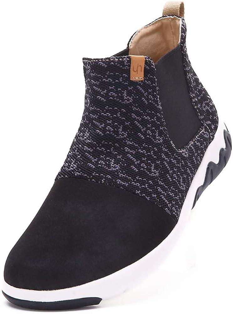UIN Women's Men Knit High Top Fashion Sneaker Microfiber Walking Travel Shoes Dr Ken