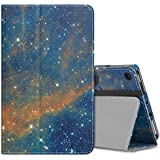 Atic Case Compatible with Fire 7 Tablet (7th Generation, 2017 Release Only), Thinnest Folding Stand Shell Cover with Auto Wake/Sleep for Amazon Fire 7 - Sky Star