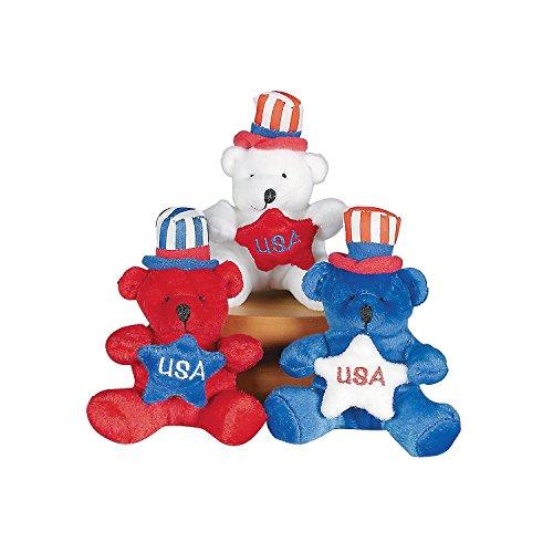 Patriotic Teddy Bears (PATRIOTIC PLUSH BEARS (1 DOZEN) - BULK)