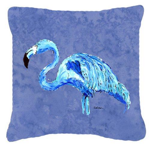 "UPC 615872539802, Caroline's Treasures 8873PW1818 Flamingo On Slate Blue Canvas Fabric Decorative Pillow, 18"" x 18"", Multicolor"