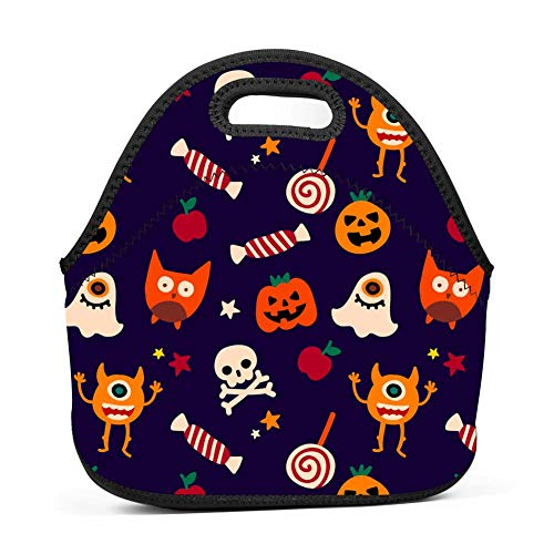Crazy Halloween Holiday Bento Boxes Washable Lunch Tote