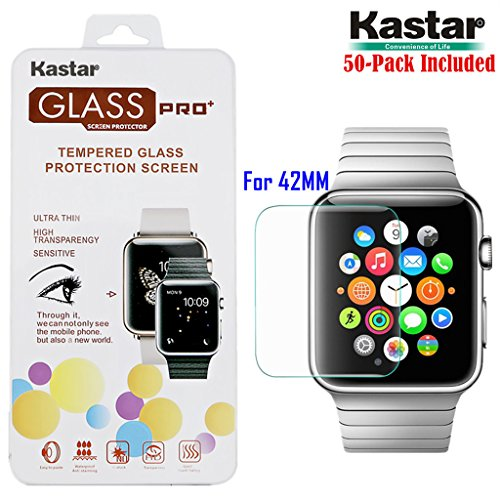 kastar-iwatch-42mm-screen-protector-50-pack-premium-tempered-crystal-clear-glass-screen-protector-fo