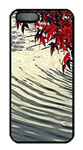 Case For HTC One M7 Cover Nature leaves red 2 PC Custom Case For HTC One M7 Cover Cover Black
