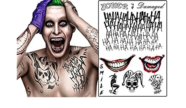 Temporary Tattoo Set: The Joker from Suicide Squad by Fancy Pants ...
