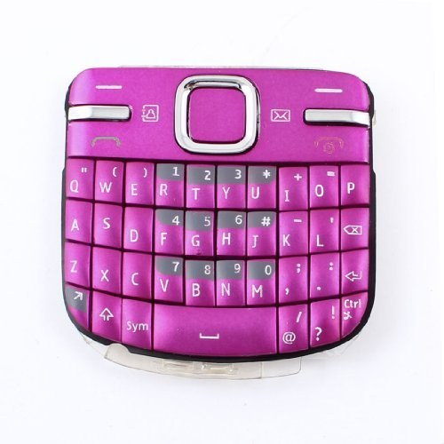 Water & Wood Amaranth Buttons Keypad Replacement Part Keyboard for Nokia C3