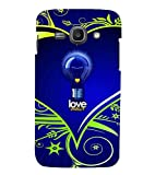 Fiobs Designer Back Case Cover for Samsung Galaxy Ace 3 :: Samsung Galaxy Ace 3 S7272 Duos :: Samsung Galaxy Ace 3 3G S7270 :: Samsung Galaxy Ace 3 Lte S7275 (Love Energy Bulb Urja Heart Dil Blue )