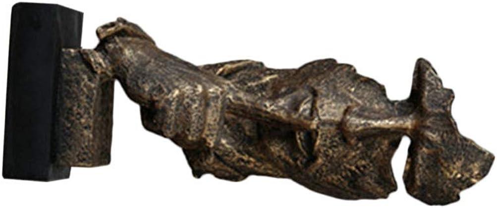 EXCEART Figura di Uomo Astratto Mantenere Il Silenzio Figurina Desktop Scultura Moderna Statua Decorazione per Lhome Office