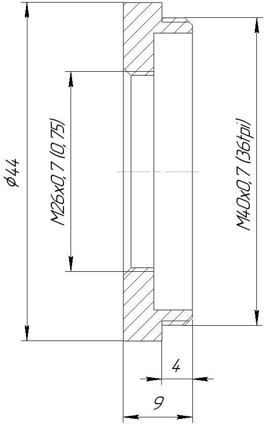 Male to M26x0.7 M40x0.7 36tpi 36tpi Female Thread Adapter