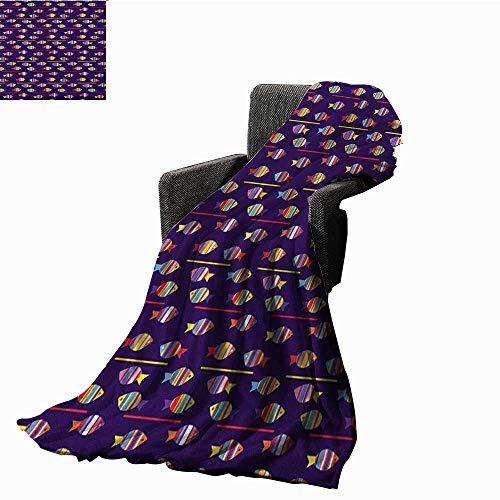 Strange Bybyhome Bed Or Couch 50 X 30Fish Printing Blanket Rainbow Frankydiablos Diy Chair Ideas Frankydiabloscom