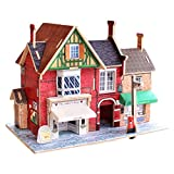 Yobooom 3D Wooden Puzzles for Kids Wood House Ages 4-8 Early Educational Toys Intelligence Toy
