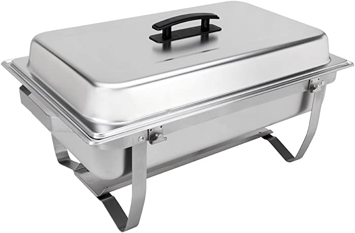 Sterno Products 70153 Foldable Frame Buffet Chafer Set, 8 qt, 8 quart, Silver