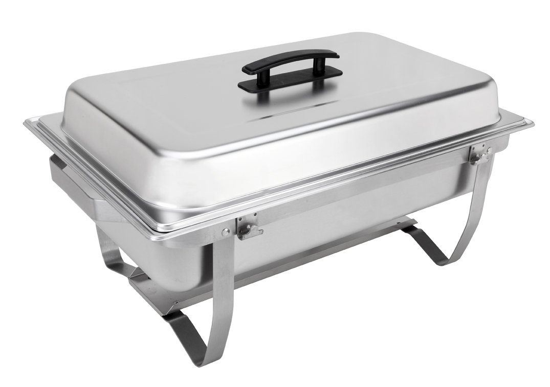 Sterno Products 70153 Foldable Frame Buffet Chafer Set, 8 qt, 8 quart, Silver by Sterno