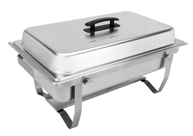 Sterno 70153 Foldable Frame Buffet Chafer Set, 8 quart, Silver