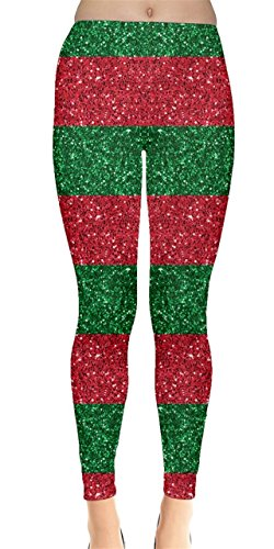 CowCow Womens Xmas Shine Leggings, Xmas - 2XL