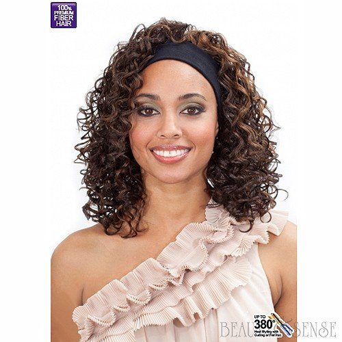 BOBBI BOSS SYNTHETIC FULL WIG W/ HEADBAND - M905C BADU-CURL (FS4/27)