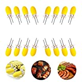 Stainless Steel Corn Holders with Silicone Handle, COVO-Art Non Slip Corn Forks, Set