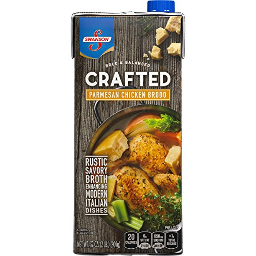 (Swanson Crafted Parmesan Chicken Brodo Resealable Carton, 32)