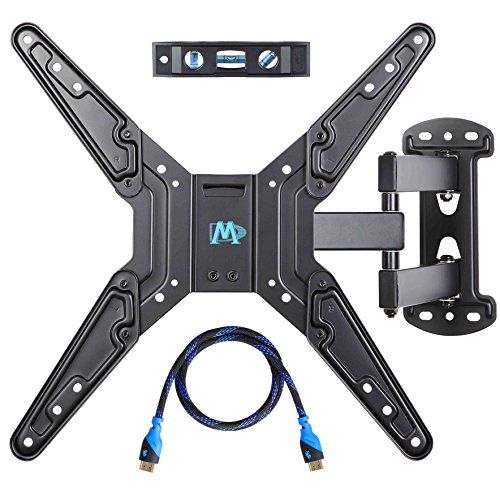 Mounting Dream MD2413-MX Full Motion Articulating Arm Wall Mount Bracket for 26-55 (Arm Tilting Wall Mount)