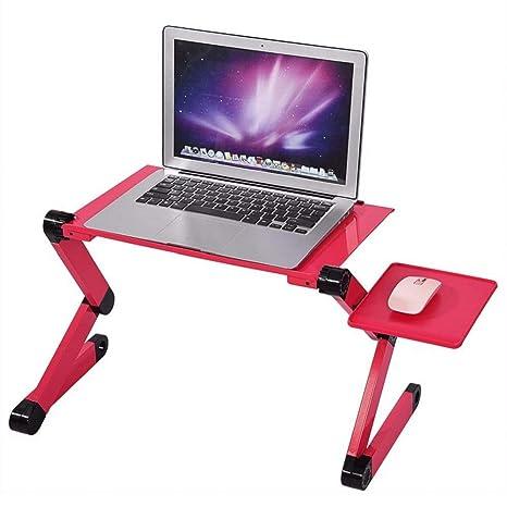 Soporte de mesa para ordenador portátil y portátil, ajustable, ideal para sofá, cama