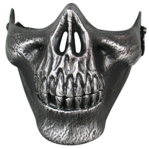 [New Silver Skull Mask Halloween Party Mask Anonymous Guy Fawkes Fancy Dress Adult Costume Supply] (Funny Easy Guy Halloween Costumes)