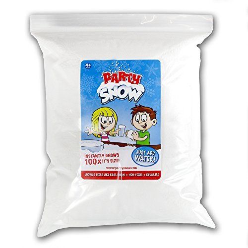 Instant Fake Snow - Mix Makes 30 Gallons of Artificial Snow by Party Snow