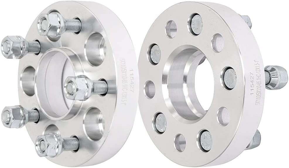 ECCPP Replacement Parts 5X110mm Hubcentric Wheel Spacers 5 Lug 1 5x110mm to 5x110mm 65.1mm 12x1.5 fits for Chevy Cobalt SS HHR Malibu Cadillac Catera