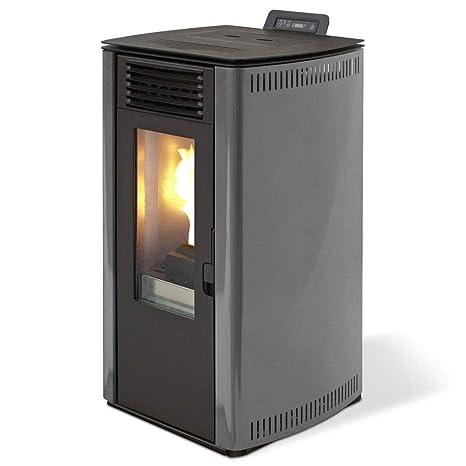 Qlima estufa de pellets 8.4kw 200mc Calefacción casa Gris eurostove 74 debidas