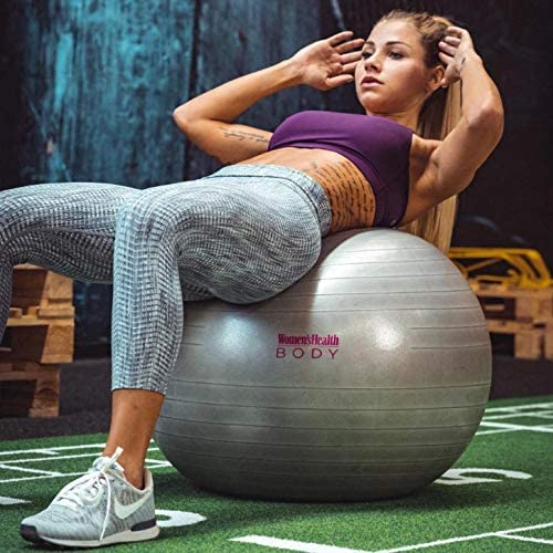 Womens Health BODY Gymnastikball Gymnastikball ideal f/ür Stabilit/ätstraining zur K/örperstraffung Gym Ball-Push Ups Klappmessern und Stability Crunches