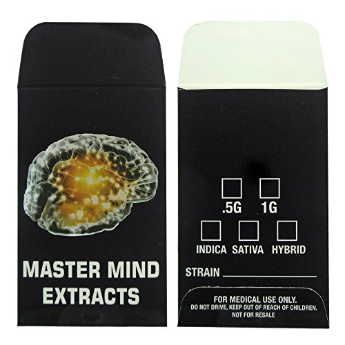 1000 Master Mind Extracts Premium Concentrate Envelopes by Shatter Labels #144 by Shatter Labels
