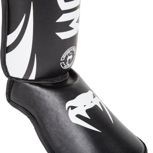 Venum 0773-L Challenger Standup Shinguards, Black, Large