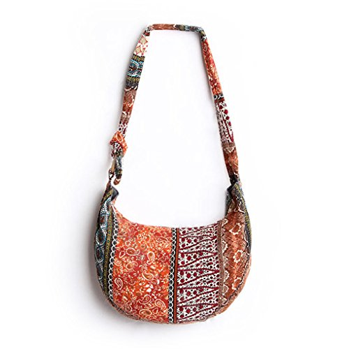 Womens Ethnic Tribal Style Cotton Hippie Hobo Sling Crossbody Bag Messenger Purse by C.A.Z