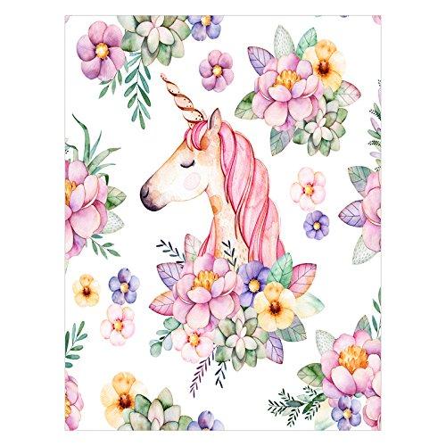 (Tobe Yours Unicorn Princess Elegant Sweet Dream Printed Velvet Plush Fleece Feeling Super Soft Cozy Bedroom/Couch/Sofa Throw Blanket 58x80 inch(Large) (One Sides Printed))