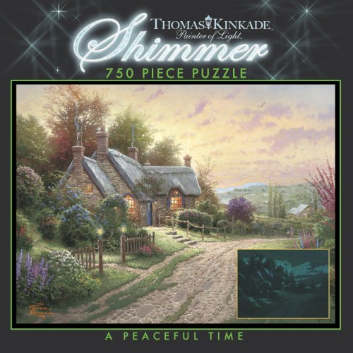 750 Piece Thomas Kinkade Shimmer-A Peaceful Time
