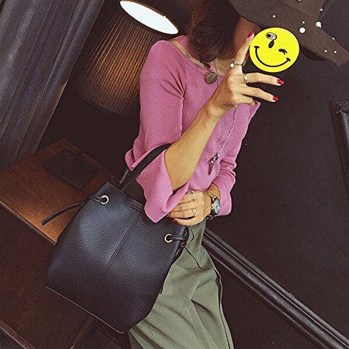 cuir Sac Gris Body Capacité à bandoulière Sac Grande Mode Cross Messenger ESAILQ Femmes en main Sac à Pochette 4wqXOT7nx