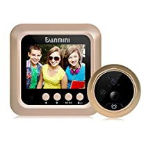 Zinc Alloy 1080P Indoor Viewer Night Vision Disturb-free Photos Taking and Video Recording Motion Detecting Smart Doorbell Vision Doorbell Color Screen 2.4