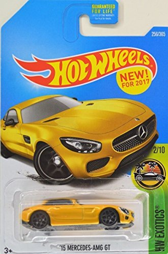 Hot Wheels 2017 HW Exotics '15 Mercedes-AMG GT 256/365, Yellow