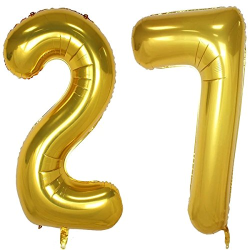 7 inch number balloons - 4