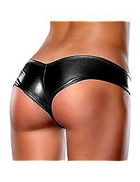 M-Egal 10 Color Sexy Lingerie Womens Party Briefs Metallic Thong Underwear Pants Bikini