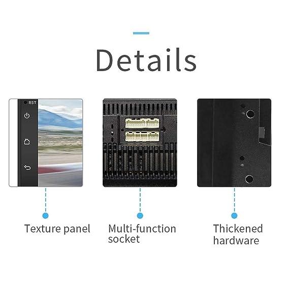 dispositivo de navegador para cami/ón de 7 pulgadas pantalla t/áctil capacitiva GPS Bluetooth 16 GB y1 GB c/ámara de visi/ón trasera Radio Android 7.1 WIFI Reproductor de MP3 MP5 con radio 2DIN doble