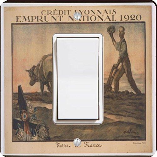 rikki-knight-3716-single-rocker-vintage-posters-art-credit-lyonnais-design-light-switch-plate