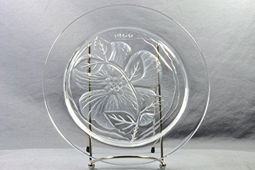 Lalique Crystal Annual Plate, 1966 Rose Du Songerie