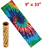 Trouble 9' x 33' Skateboard Grip Tape Sheet Bubble Free Skateboard Griptape Tie Dye (S03)