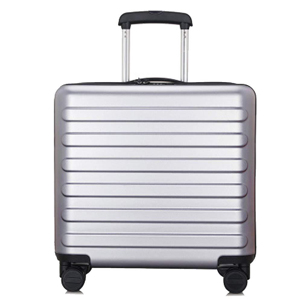 Pcトロリーケース、サイレントユニバーサルホイールトロリーケース、パスワード税関ロック荷物、搭乗旅行スーツケース、 B07QVQGWCY Silver2 Small
