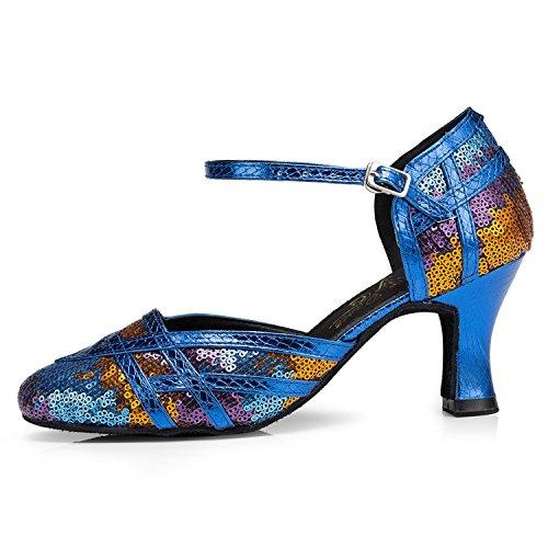 femme bleu Blue heel 35 Miyoopark 7cm de Salle bal xqwC1IHtp